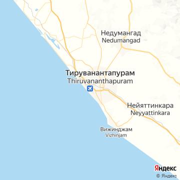 Карта Тируванантапурама