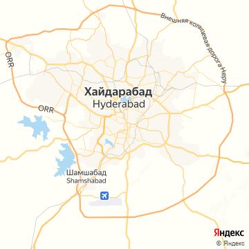 Карта Хайдерабада