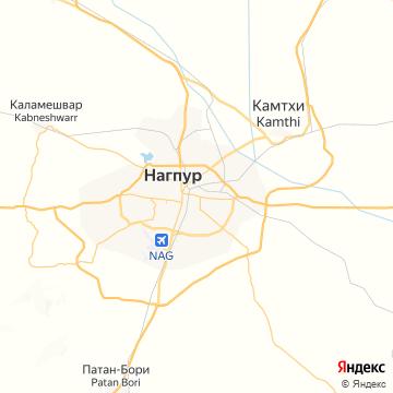 Карта Нагпура