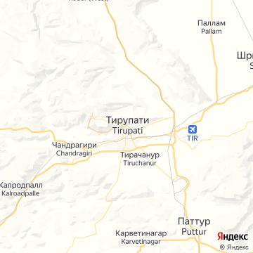 Карта Тирупатей