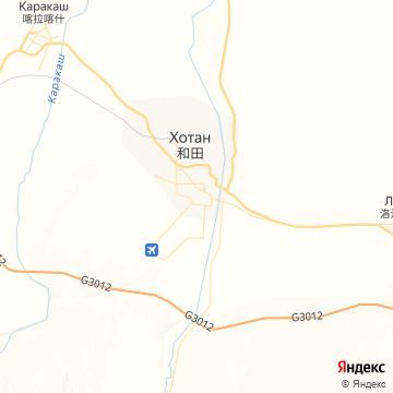 Карта Хотана