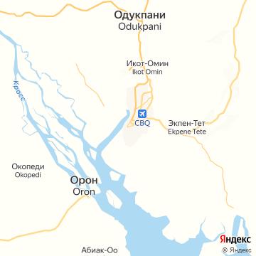 Карта Калабар