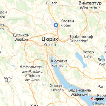 Карта Цюриха