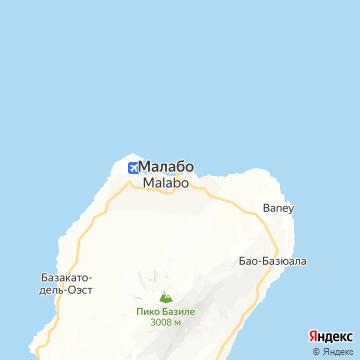 Карта Малабо