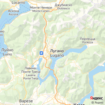 Карта Лугано