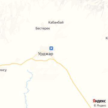 Карта Урджар
