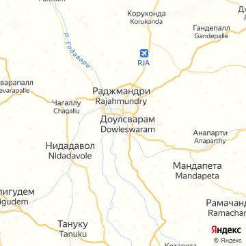 Карта Раджахмундри
