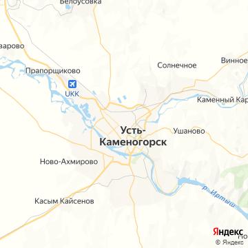 Карта Усть-Каменогорска