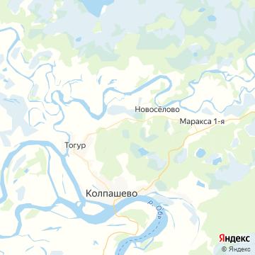 Карта Колпашево
