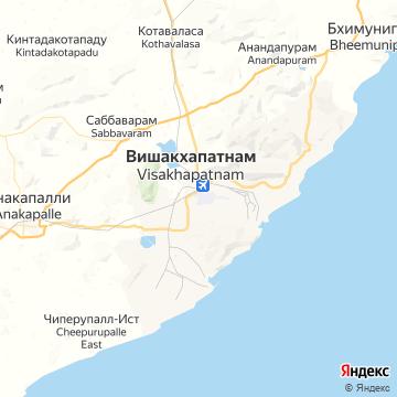 Карта Вишакхапатанама