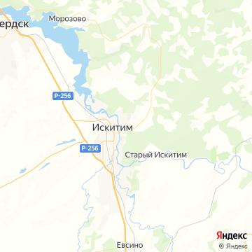 Карта Искитима