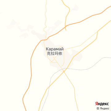 Карта Karamay