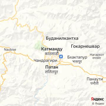 Карта Катманду
