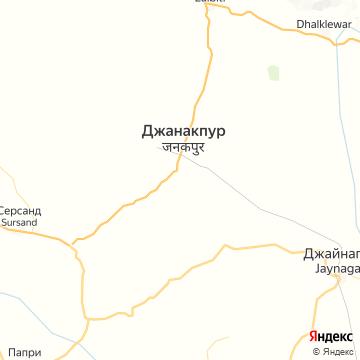 Карта Джанакпура