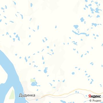 Карта Дудинки