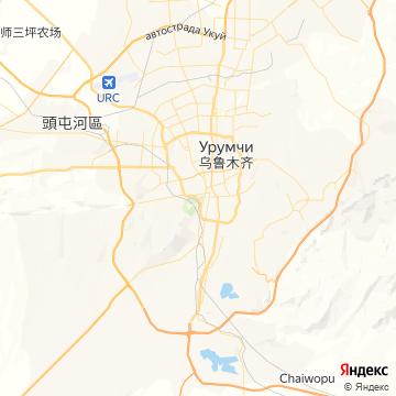 Карта Урумчей