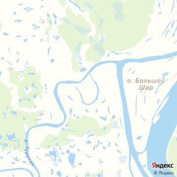 Карта Старотуруханска