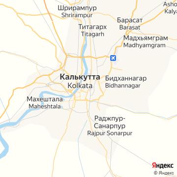 Карта Колкаты