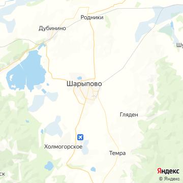 Карта Шарыпово