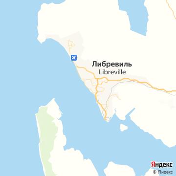 Карта Либревилля