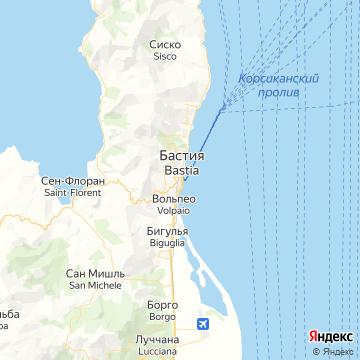 Карта Бастии