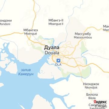 Карта Дуалы