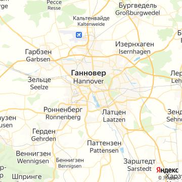 Карта Ганновера