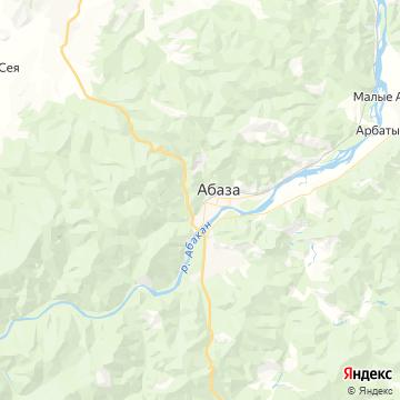 Карта Абазы