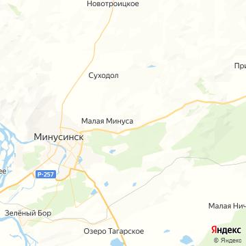 Карта Минусинска