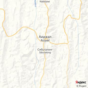 Карта Айзавла
