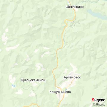 Карта Артемовска
