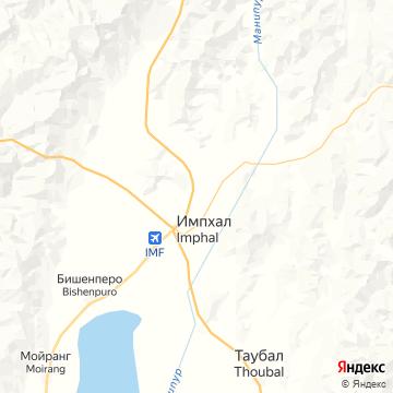 Карта Имфала