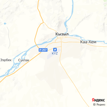 Карта Кызыла