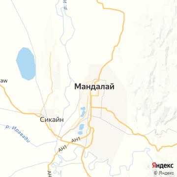 Карта Мандалея