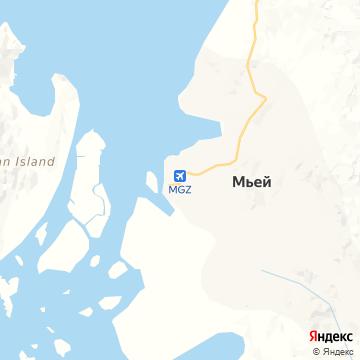 Карта Myeik