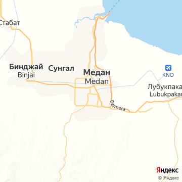 Карта Медана