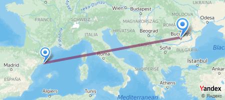 BCN - OTP Itinerariu de zbor