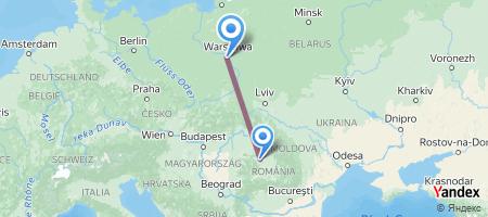 CLJ - WAW Itinerariu de zbor