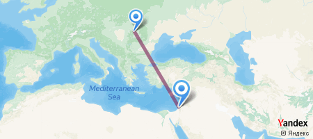 CLJ - TLV Itinerariu de zbor