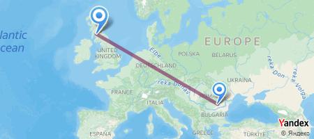 OTP - GLA Itinerariu de zbor