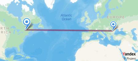 OTP - YUL Itinerariu de zbor