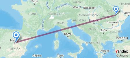 BCM - MAD Itinerariu de zbor