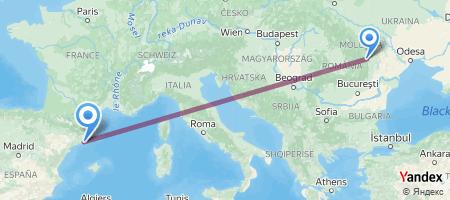 BCM - BCN Itinerariu de zbor