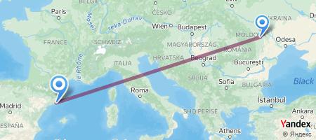 IAS - BCN Itinerariu de zbor