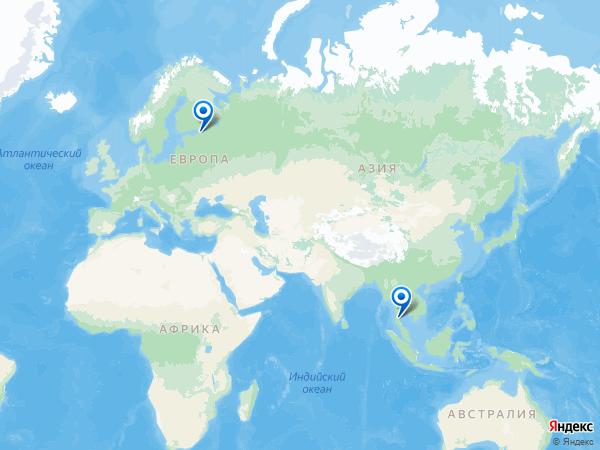 Виртуальные 3D туры панорамного фотографа Turmanium на карте. -----