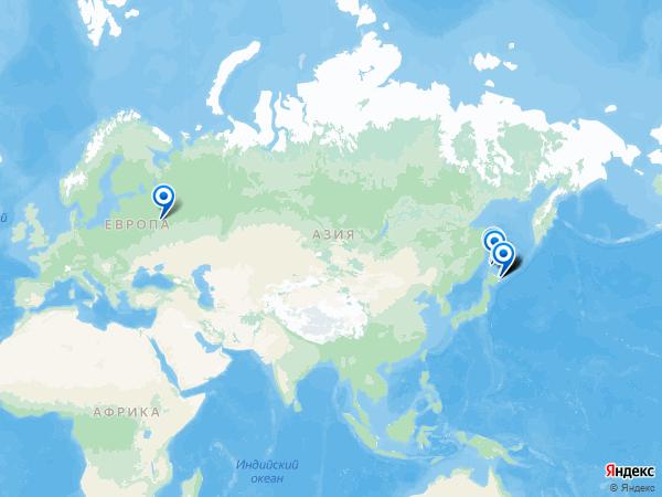 Виртуальные 3D туры панорамного фотографа Serge на карте. -----