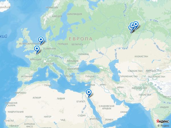 Виртуальные 3D туры панорамного фотографа Dasiz на карте. -----