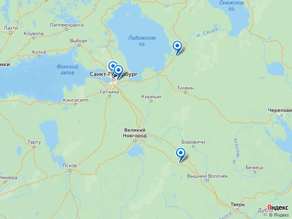 Виртуальные 3D туры панорамного фотографа Vychurov.danila на карте. -----