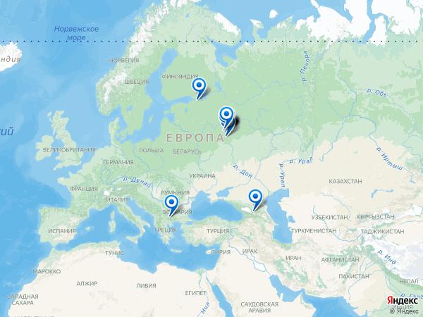 Виртуальные 3D туры панорамного фотографа Антон Стасенко на карте. -----