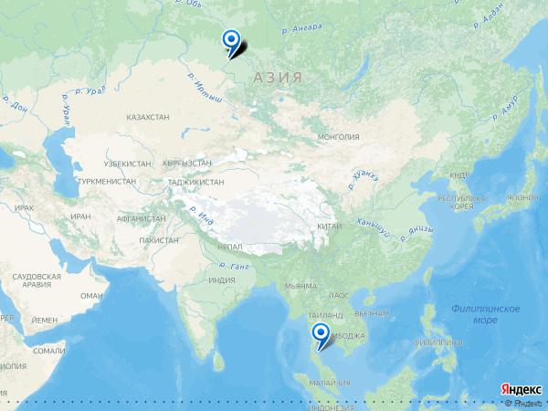 Виртуальные 3D туры панорамного фотографа Denis Dronov на карте. -----